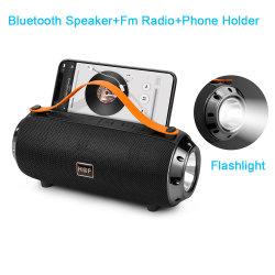 Beweglicher AudioBluetooth Multifunktionslautsprecher mit Handy-Halter TFUSB der Taschenlampen-FM Radio