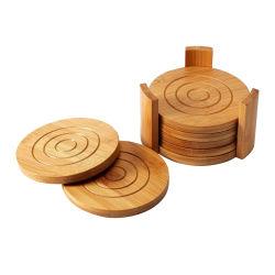 ثبت مزالج خيزرانيّ [6-بك] [أبسربنت] وتكثّف [كب هولدر] خشبيّة