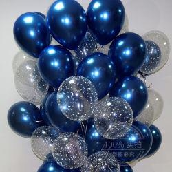 20PCS12-Zoll Ink-Blue Transparent Star Latex Ballon Happy Birthday 2,2g Pink Weiß Helium Ballon Hochzeit Party Dekor Supplies