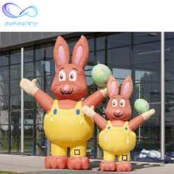 Decorazione di pubblicità gonfiabile dell'animale del fumetto del nuovo di arrivo di colore rosa di festival di pasqua del coniglietto modello gonfiabile gonfiabile del coniglio