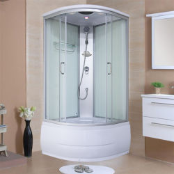 Arc ventilatore partizione vetro scorrevole porta doccia impermeabile con Bagno con vasca e doccia integrale