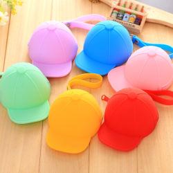 2020 Novo design do Mini-bolsa redonda geléia de Silicone Candy Color Hat Shap Coin Bolsa impermeável Bonitinha Wallet para crianças Kid