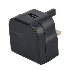 Yingjiao는 까만 6W 5V 영국 플러그 단 하나 USB 충전기 QC 2.0 이동 전화 또는 사진기 벽 충전기를 주문을 받아서 만들었다