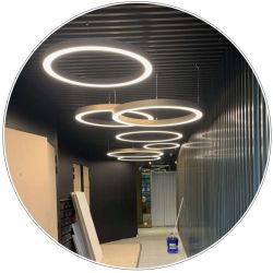 De tamaño personalizado y las formas circulares de LED Lámpara