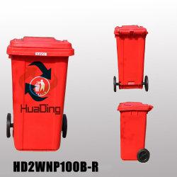 240L Contenitore per rifiuti in plastica con rotella in gomma per Outdoohd2wnp240b-R.