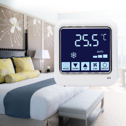 4ワイヤーデジタルリモートはModbusとファンコイルの単位のホテルネットワークサーモスタットを接続する