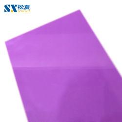 ورقة صلبة من البولي كربونات 6 مم 7 مم 9 مم 10 مم مادة بناء ألواح سقف من الصوبات الصوبة لون أرجواني أوكازيون كامل أفضل سعر 100% مادة فيرتيال