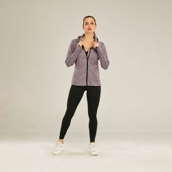 Secar rapidamente Soft Piscina Ioga Sport Treino Desgaste Desgaste Fitness Academia Jacket Mulheres Estojo desportivo