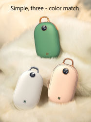 Aquecedor de mão de carregamento USB portátil de Energia Móvel de Moda 2 em 1 biberões de mão de Carregamento de telemóveis por grosso