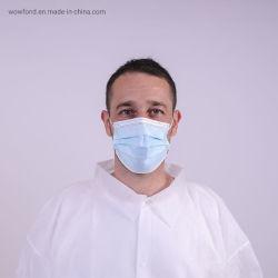 Protezione 3 veli maschera facciale non tessuto Dust Respiratory with Supporto elastico per l'orecchio