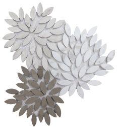 이태리 비앙코 카라라 화이트, 그레이 스톤 아트 디자인 모자이크 백스플래시 장식으로 디자인