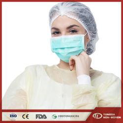 Médecin Chirurgien Hôpital de chirurgie dentaire de la sécurité de protection de la bouche des nontissés FR14683 3ply Kids Masque jetable avec contour