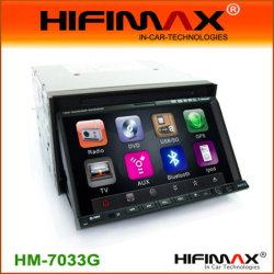 2-DIN de 7 pulgadas con pantalla digital de DVD/Bt Rds,iPod,GPS,Tmc,TDT incorporada opcional (HM-7033GD) USD257-USD264