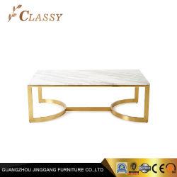 Rectângulo Sala de café em mármore mesa de chá de mesa