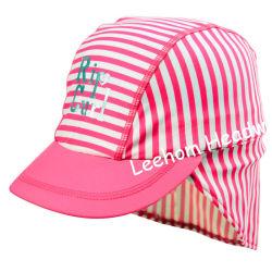 水泳の方法スパンデックスのしまのある帽子
