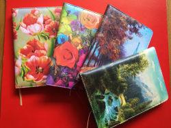 Impresa personalizada cuaderno diario de cuero de PU