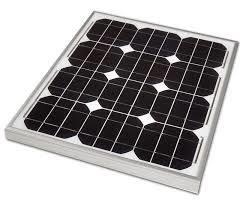 Panel Solar monocristalino de calidad de 30W de modelo para la aplicación del sistema residencial