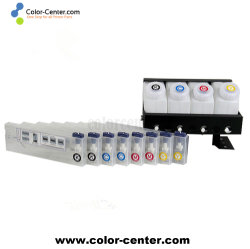 MutohプリンターCISS 4X8 Mutoh 4のカラープリンターのための連続的なインク供給方式