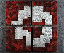 Абстрактные 3D текстуры металла алюминия Relievo Картины маслом стенки аппарата