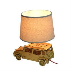 Такси ткань Lampshade деревянный стол освещение (Кам-YY99999)