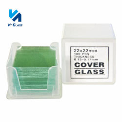 현미경 활주 덮개 유리, 석영, 플라스틱 Coverslips