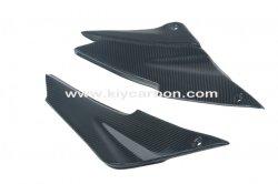 Fibra de carbono a parte inferior da guarnição do banco de motocicleta para a Kawasaki ZX6r 636