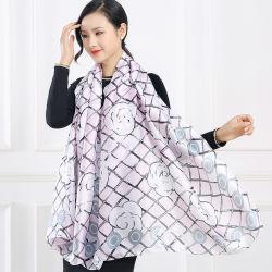 La primavera y verano nueva moda elegante Bufanda Bufanda impreso suave mantón Sun