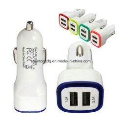 Brillant 5V 2.1A Universal chargeur de voiture 2 ports d'entrée 24V 12V LED chargeur de batterie de voiture double USB chargeur de voiture avec LED