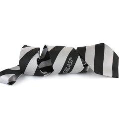 Новый Классический черный полосатые галстуки с логотипом изготовленный на заказ<br/> шелк реактивной тяги