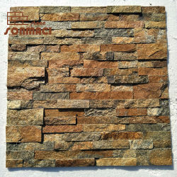 벽 외벽에 있는 브라운 스톤 레드손네르