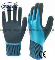 De dubbel Ondergedompelde Fully+Palm&Thumb Met een laag bedekte Werkende Handschoenen van de Veiligheid van het Latex Zandige Buiten