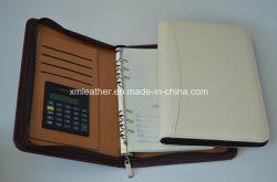 Кожаный чехол для бизнеса персональный планировщик органайзер с Zip вокруг