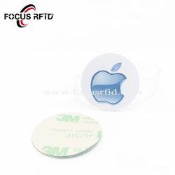 ملصق معدني لعلامة NFC ذات تقنية RFID عالية الجودة مع لاصق خلفي