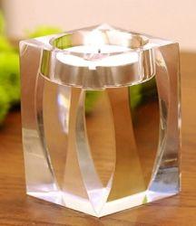 結婚式の装飾のための簡単な水晶蝋燭ホールダーのロウソク
