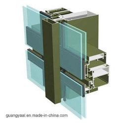 6.063 T5/T6 Series de perfis de alumínio para Cortina/parede de vidro com ISO