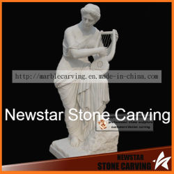 Sculpture de pierre à sculpter la statue de marbre pour la décoration d'accueil