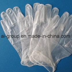 Transparentes descartáveis /clear PVC /Luvas de vinil no grau alimentício