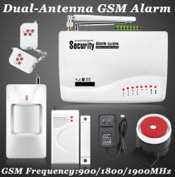 無線電信かWired GSM Voice Home Alarm Security System Burglar Android Ios Alarm System Auto Dialing Dialer SMS Call