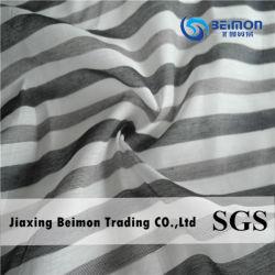 중국 공장 공급 25% Silk 2% Poly 73% Cotton Fabric 및 스트라이프 디자인