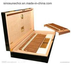 طلاء طلاء خشب الصنوبر التغليف Cigar خشبية مربع مع شعار Customzied