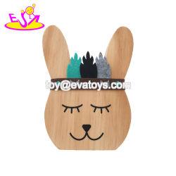 子供W02A359のための新しい到着のウサギの形の木の芸術そしてクラフト