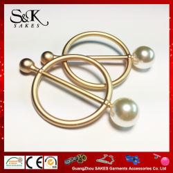 女性のためのCloth真珠のビードが付いている方法空想デザイン金属の合金のバックル
