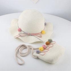 Baby-Stroh-Sommer-Strand-Hüte und Beutel