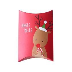 Het hete Karton die van de Noga van het Suikergoed van de Kerstman van de Gift van Kerstmis van de Verkoop het Verpakkende Vakje van het Document van het Hoofdkussen vouwen