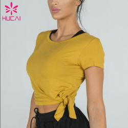 Commerce de gros Fashion femmes spandex de coton T-shirt décontracté