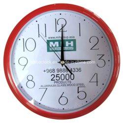 cadeau de promotion d'entreprise de commerce de gros horloge personnalisée