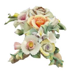 Rosa de Flores Artificiales flores de porcelana artesanal