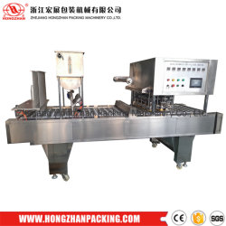2019 Zhejiang Hongzhan Hot Sale High Quality Bg60b Plastic Cup Filling Sealing Machine