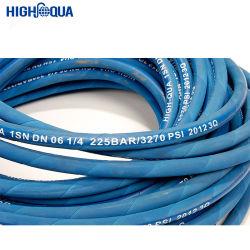 블루 컬러 SAE100 R1at/en 853 1sn 유압 호스 산업용