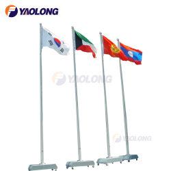 O alumínio de alta resistência operado Flagpole eléctrico 30FT pólo bandeira cónico de instalação para venda